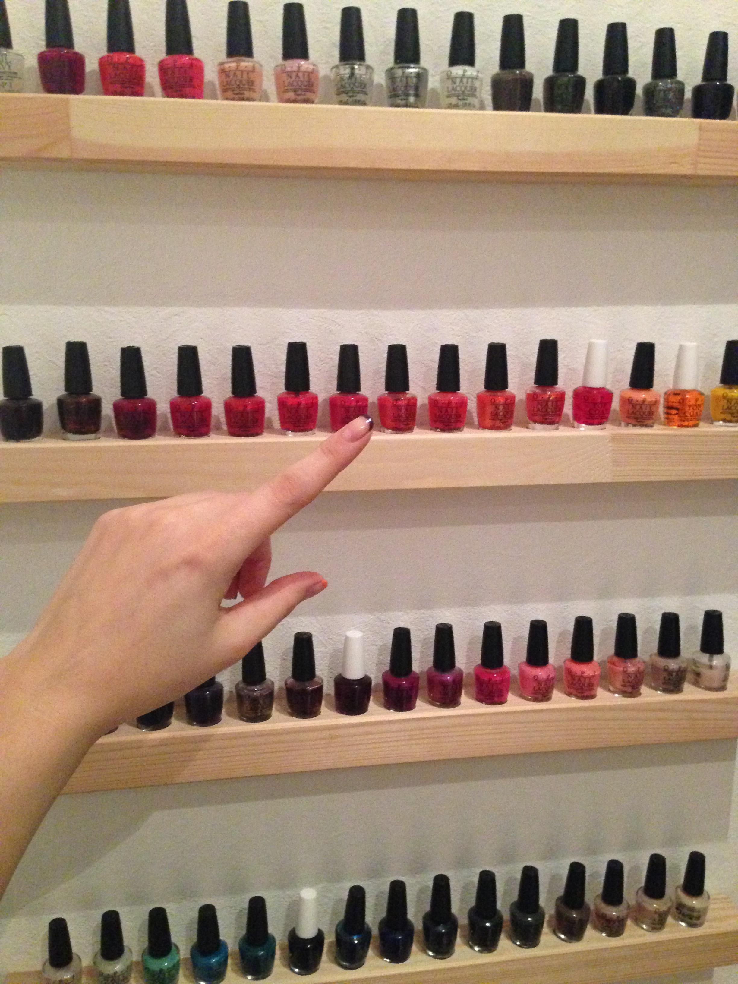 Diy nail polish shelves d then enjoy opicolection solutioingenieria Gallery